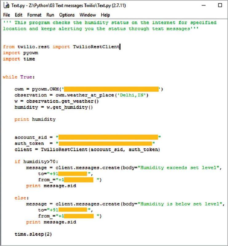 Test.py on Python GUI screen