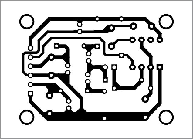 PCB pattern of the DC to DC converter