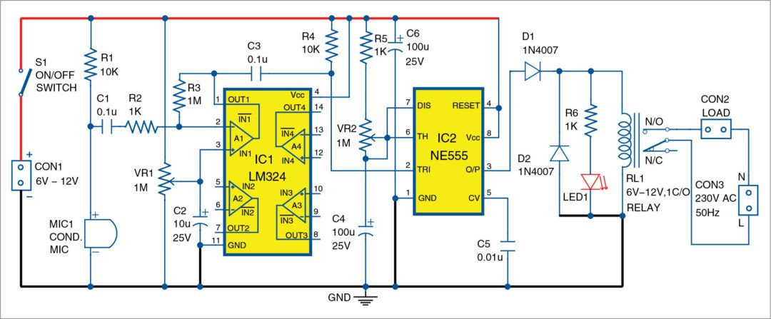 Sound operated timer circuit