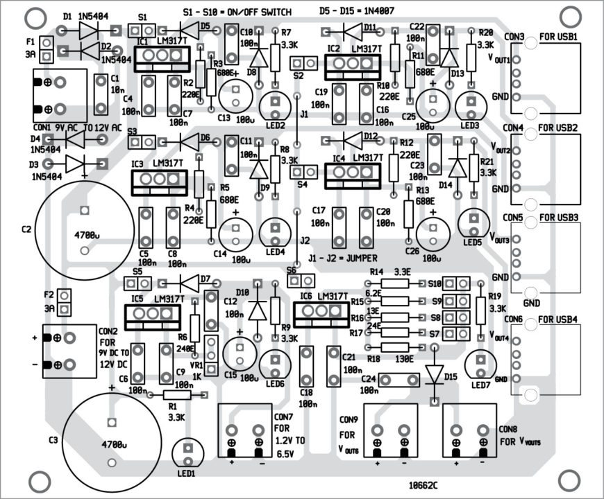 Component layout of the PCB