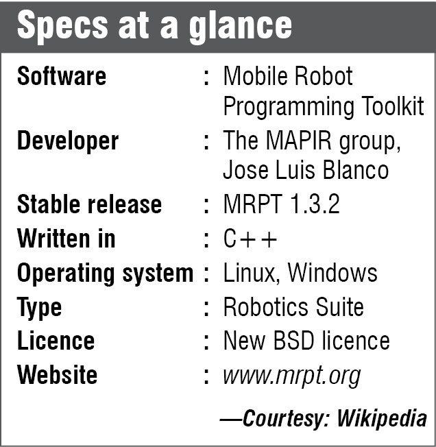 mobile robot programming toolkit specs