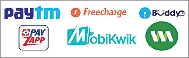 Fig. 1: Some popular mobile wallets in India   digital money