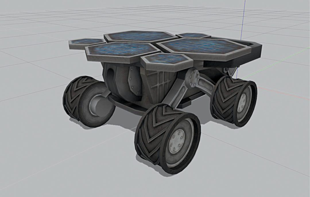 Mars rover on Gazebo