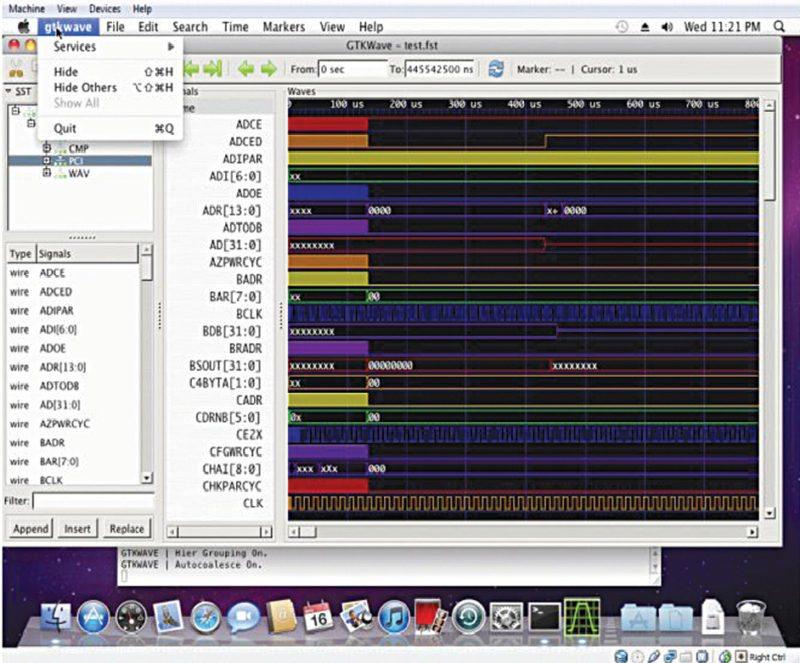 GTKWave on Mac OSX