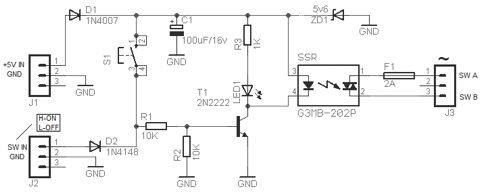 solid state relay switch circuit