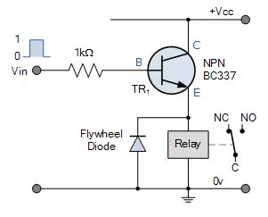 Emitter Follower relay switch circuit