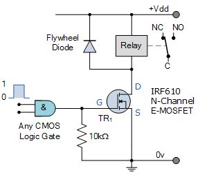 Logic Controlled relay switch circuit