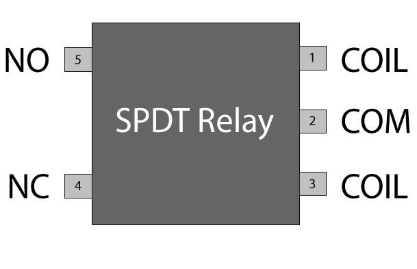 SPDT relay switch pin diagram