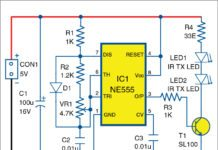 wireless gate alarm circuit