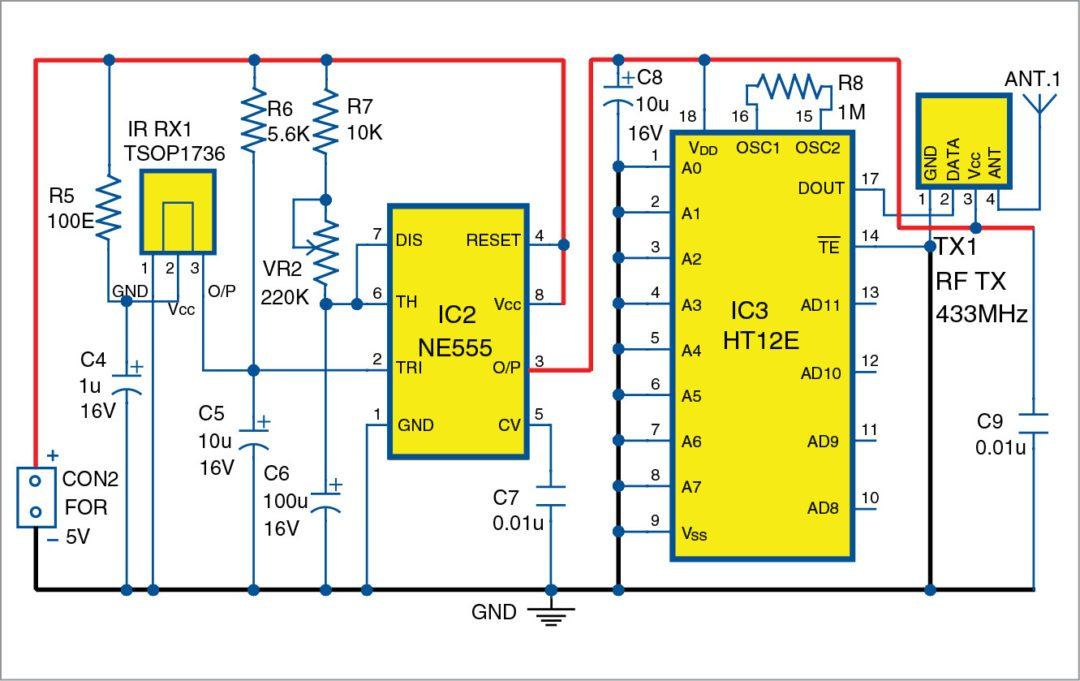 Wireless Gate Alarm | Full Electronics Project with Source ...