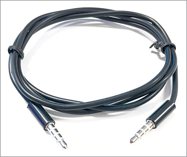3.5mm male-to-male audio cable