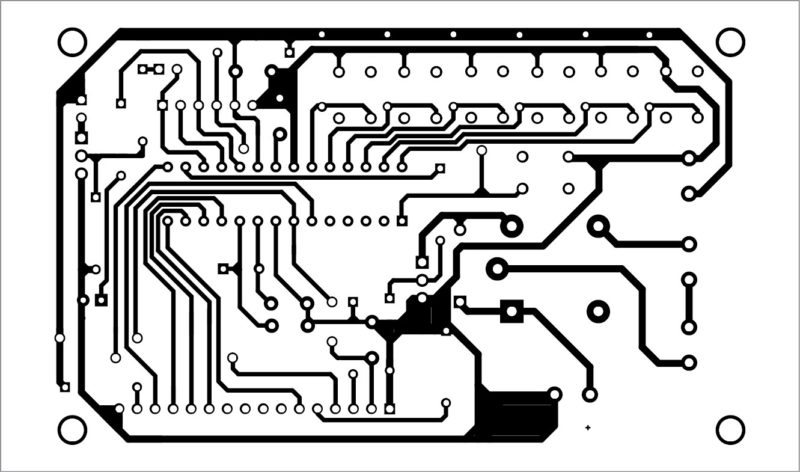 PCB layout of the countdown timer