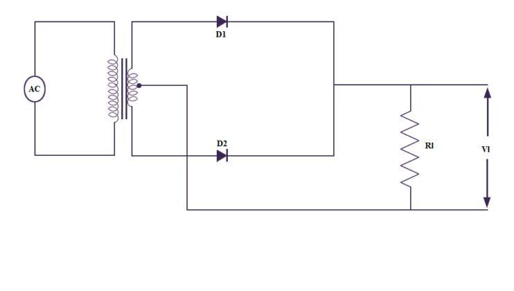 center tap full wave rectifier circuit