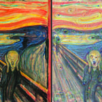the scream modified by google's AI