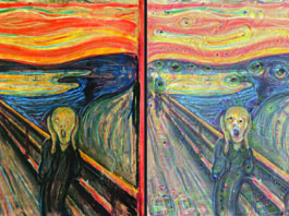 the scream modified by google's AI
