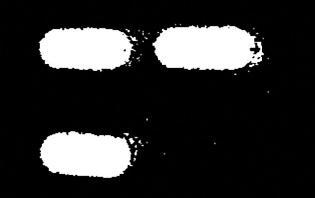 Inverted image of the tablets