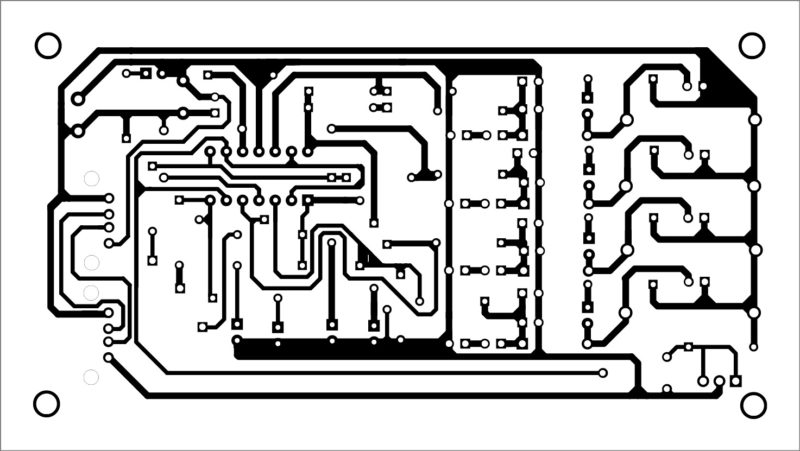 PCB layout for the battery charger and discharger with USB power supply