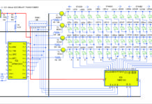 circuit of the LED cube using AT89C2051