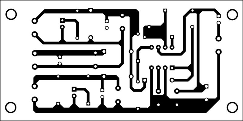 Actual-size PCB layout of the DC-to-DC converter