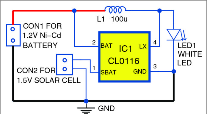 Solar Light circuit