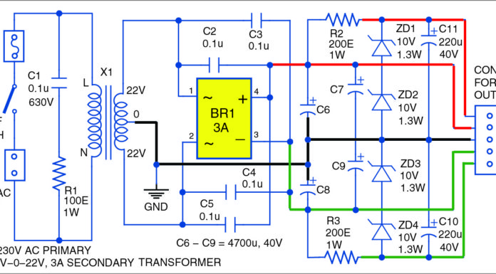 30W Audio Amplifier Circuit