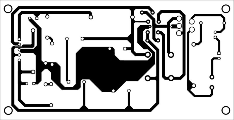 PCB layout of the power supply