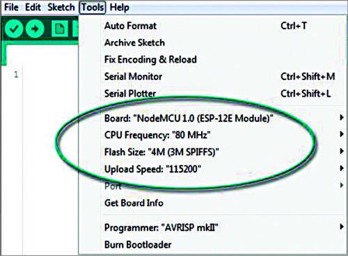 NodeMCU details on Arduino IDE