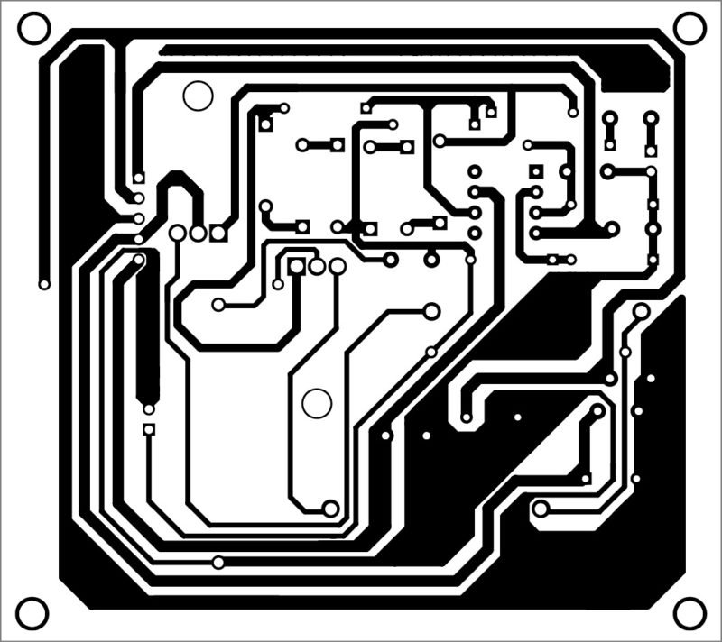PCB layout of the 30W audio amplifier