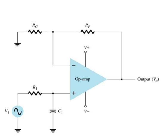 first order active low pass filter circuit