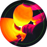 Typical way of observing the egg through a light source (Courtesy: www.incubatorwarehouse.com)
