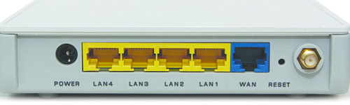 LAN and WAN ports of a router (Image courtesy: wikimedia commons)