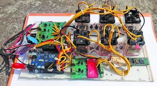author's prototype of the receiver unit
