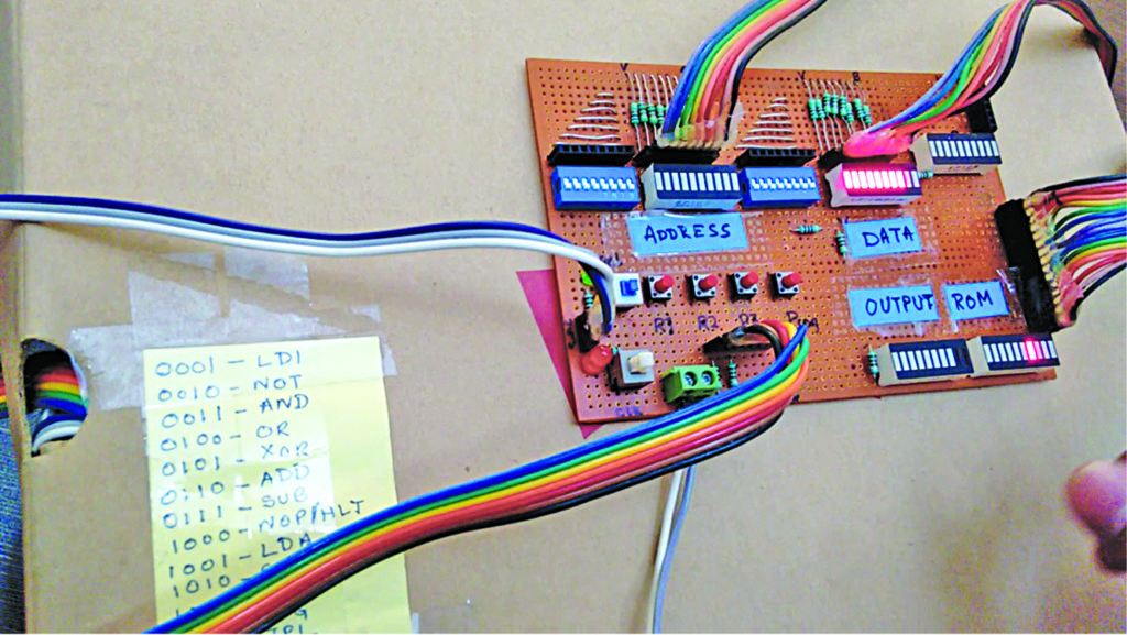 Author's prototype for 8-Bit Computer