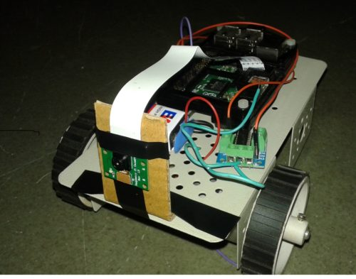 robot controlled via web server using Raspberry pi 2