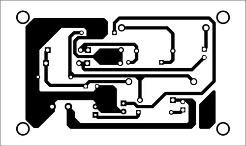 PCB layout of the egg candler