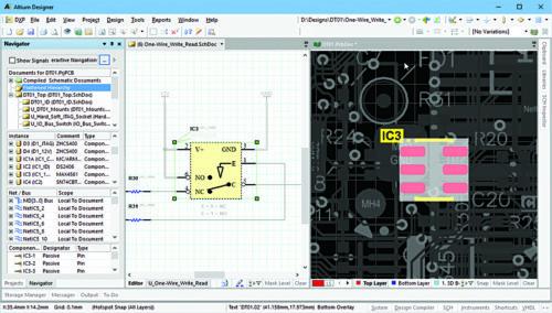 Auto-cross probing (Image courtesy: www.altium.com)