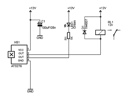 Magnet Operated Toggle Switch: Schematic Diagram