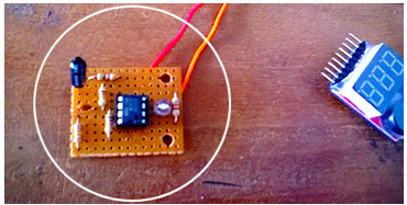 Midget Vibration Detector: Author's Prototype