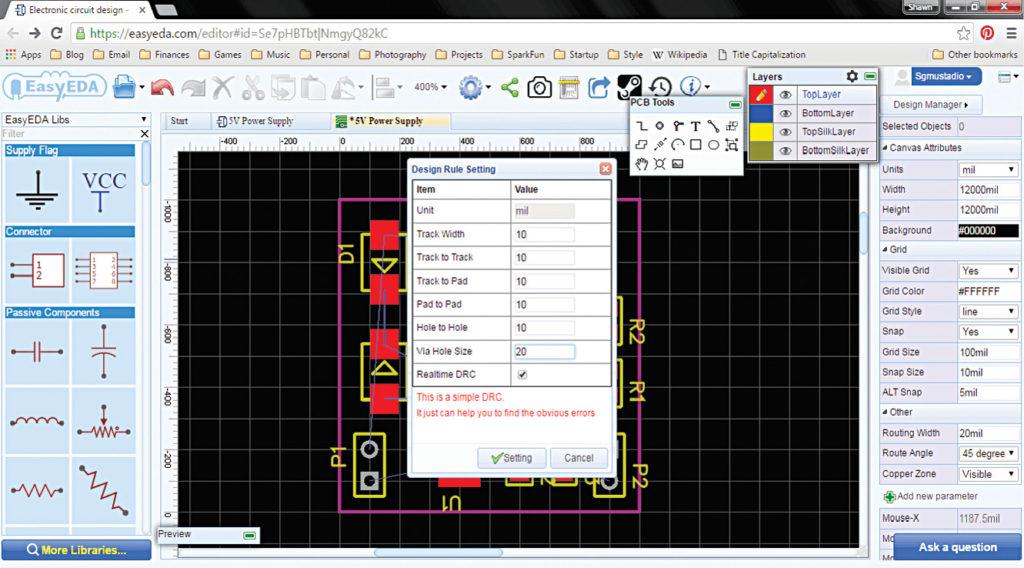 EasyEDA window (Image courtesy: http://i0.wp.com)