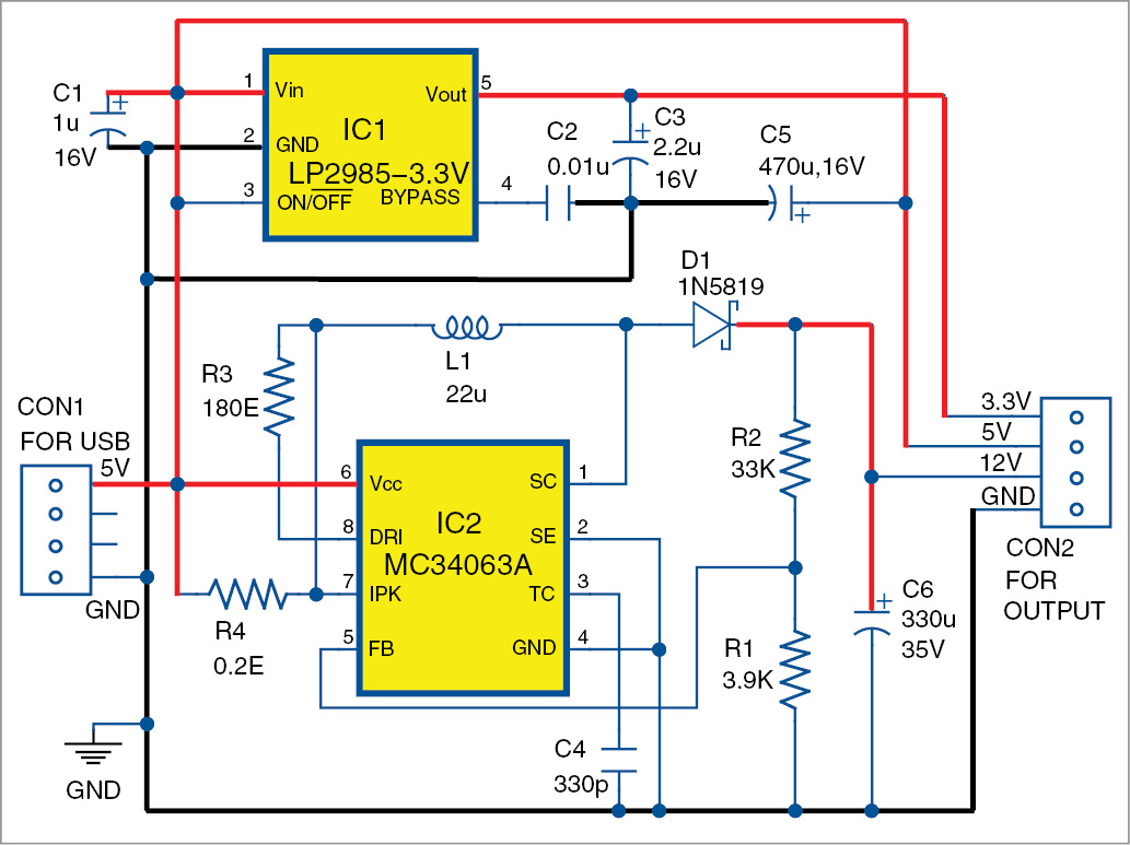usb based triple power supply | full electronics project  electronics for you