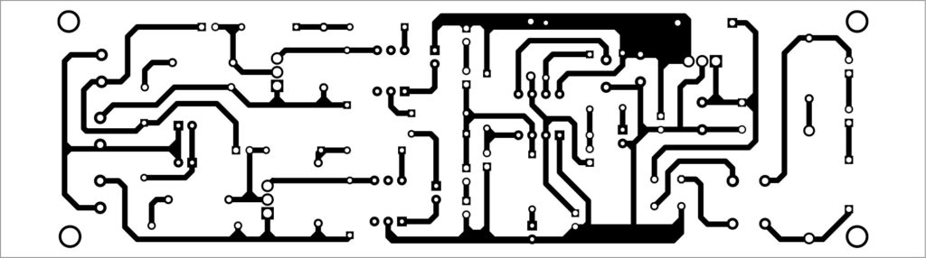 PCB layout of AC lamp blinker