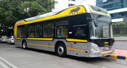 Hybrid Bus in Mumbai, India