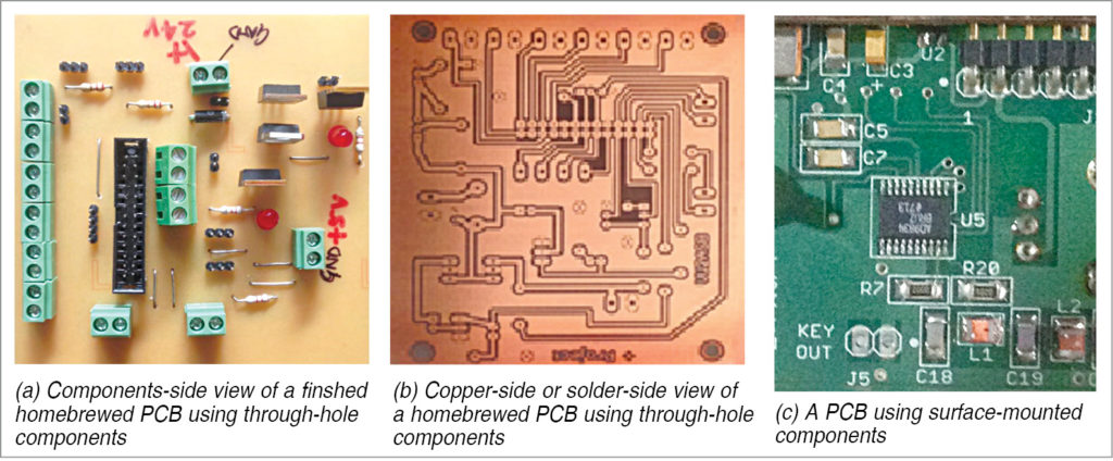 Finished home-brewed PCBs