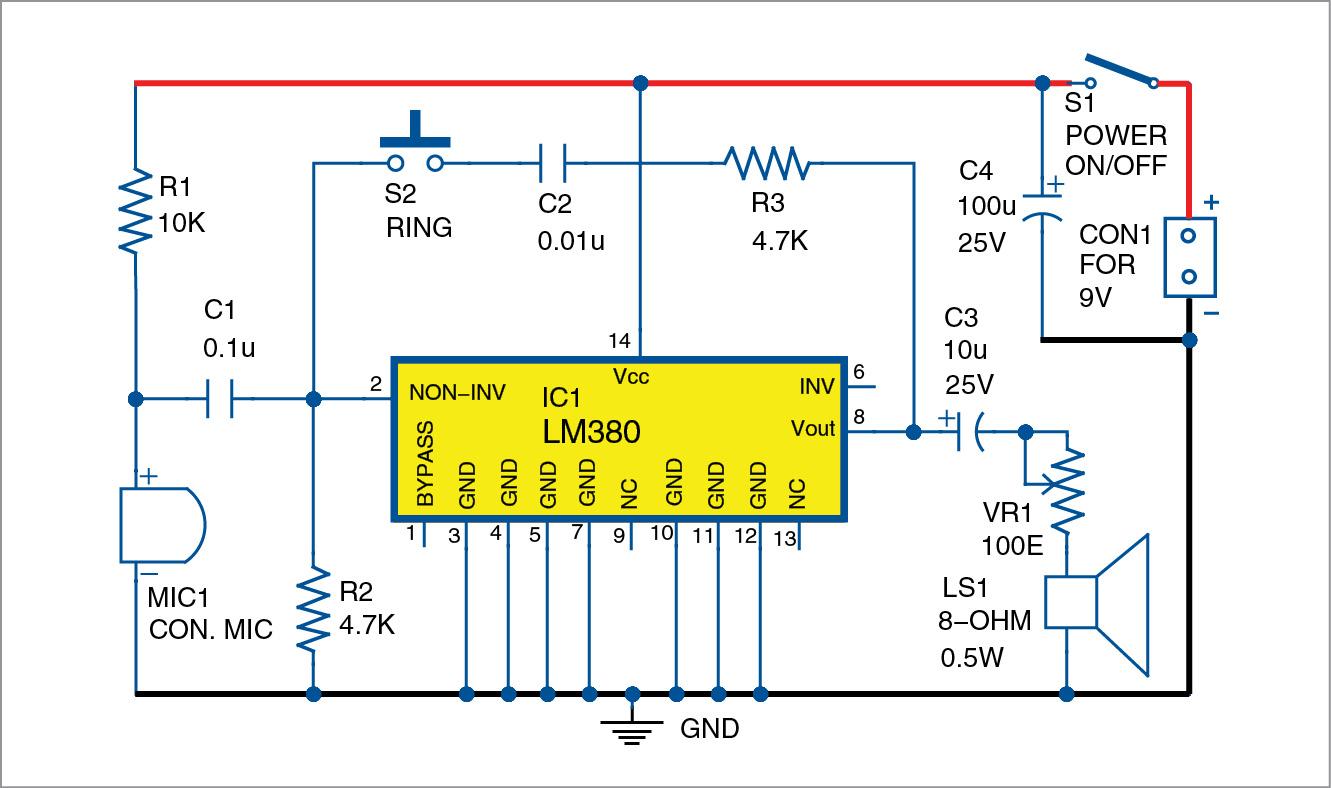 Super Simple Intercom | Detailed Circuit Diagram Available
