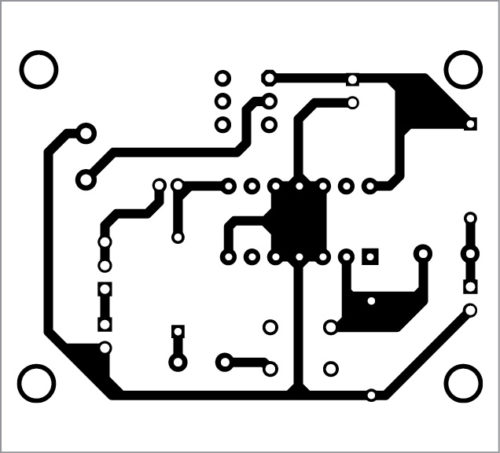 PCB layout for the intercom