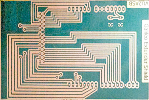 Fully developed PCB