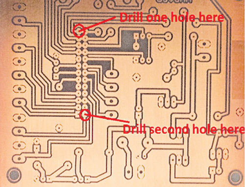The diagonally opposite component pads