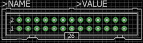 Eagle default pad size and shape for header blocks