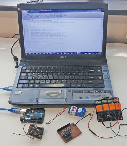 Authors' prototype of wireless equipment control using MATLAB-based GUI