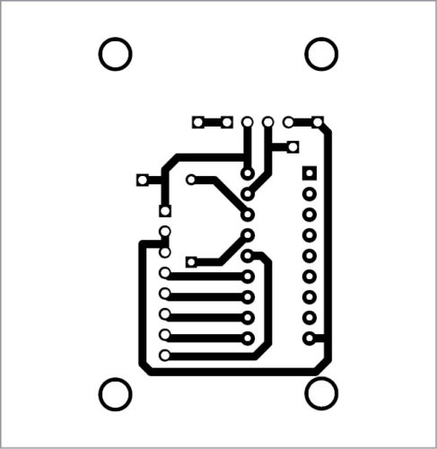 PCB layout of the transmitter circuit